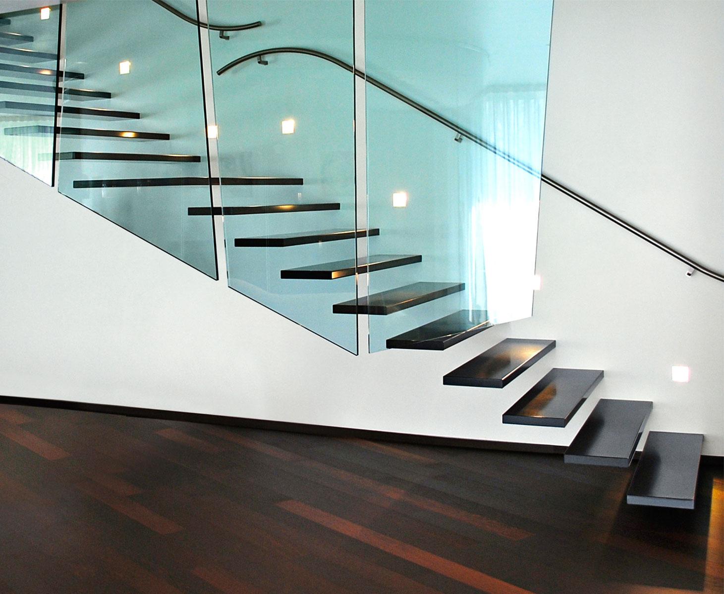 Ringhiera scala interna acciaio ringhiera scala interna - Corrimano in vetro per scale ...
