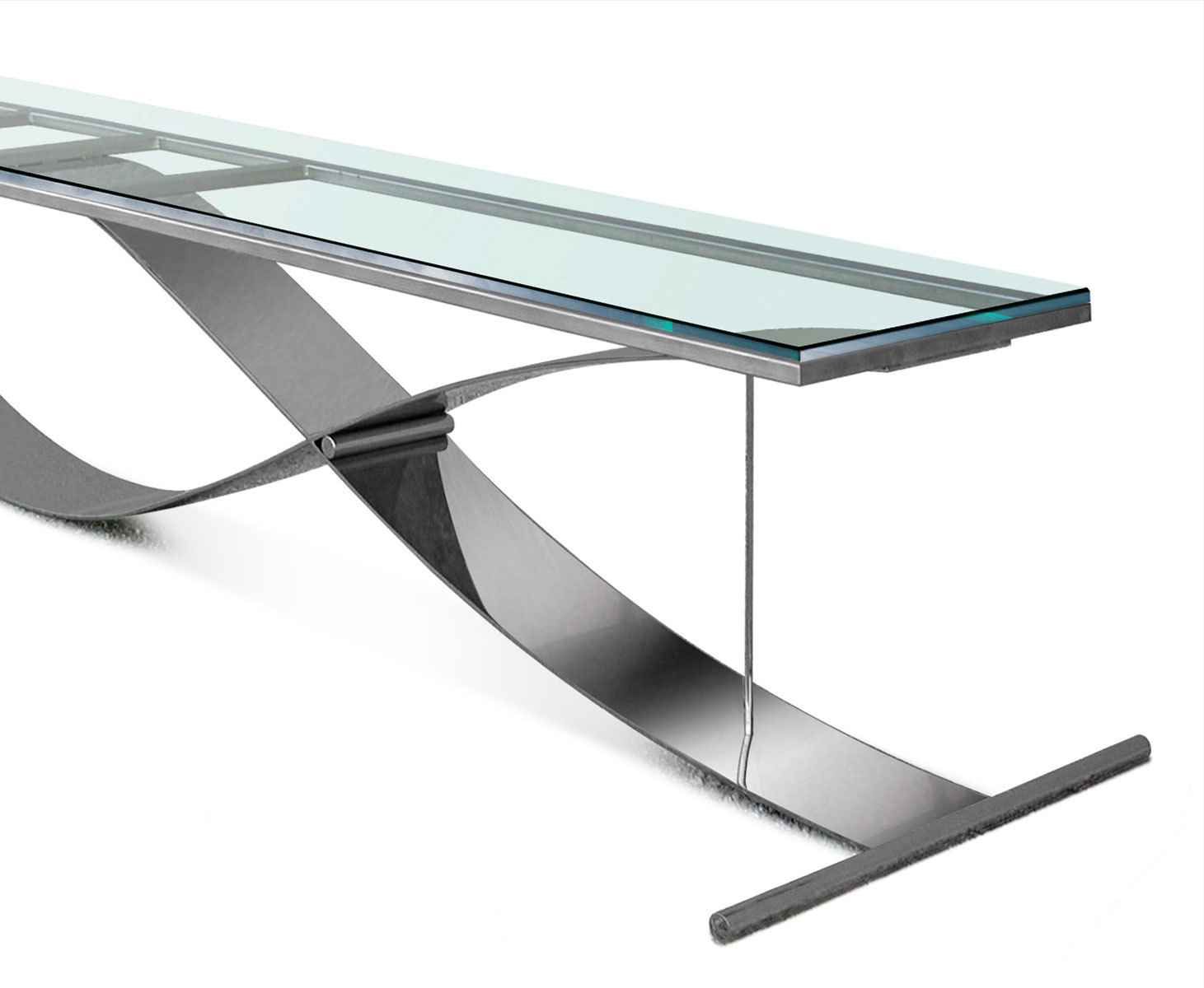Interior design novastil for Tavolo acciaio design